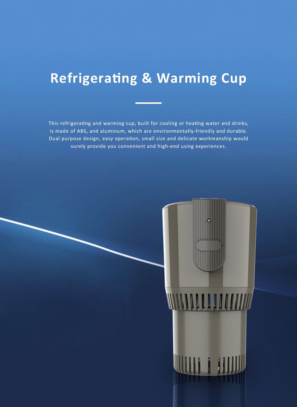 Portable Delicate Dual Purpose Car Heating Cooling Cup Household Traveling Quick Refrigerating Warming Mug 0