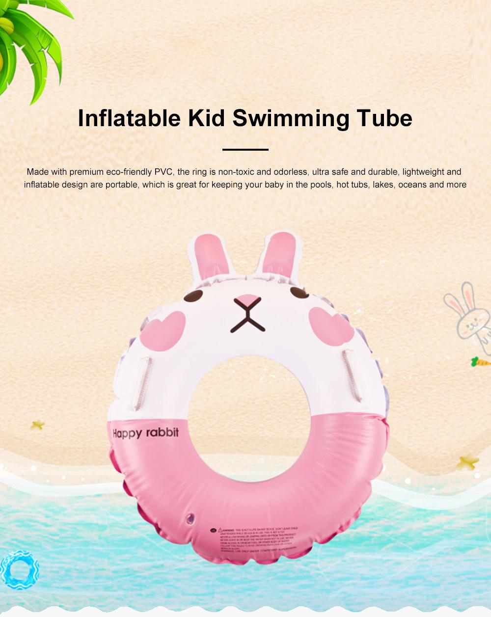 Kid Pool Inflatable Cartoon Rabbit Swimming Ring Anti-Leak Safe Children Swimming Tube 0