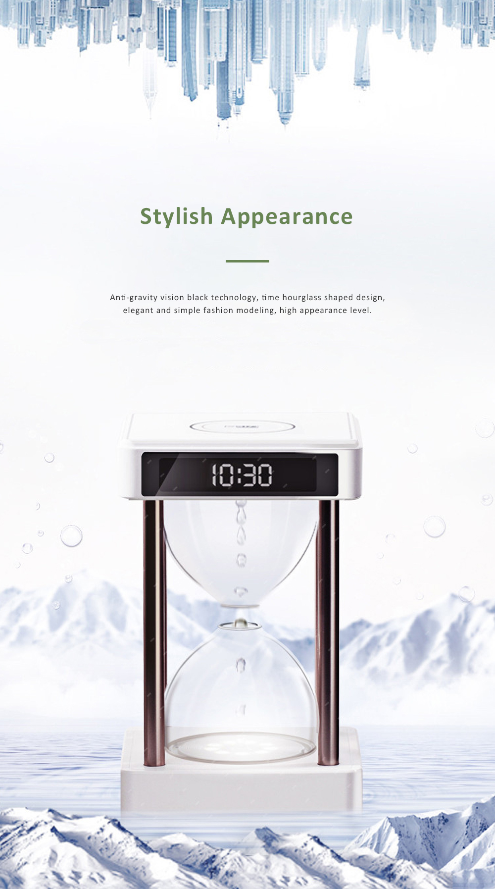 Tinkleo Air Purifier Anti-Gravity Time Hourglass with Water Drops Back Flow Desktop Humidification Deodorization Decoration Gift 3