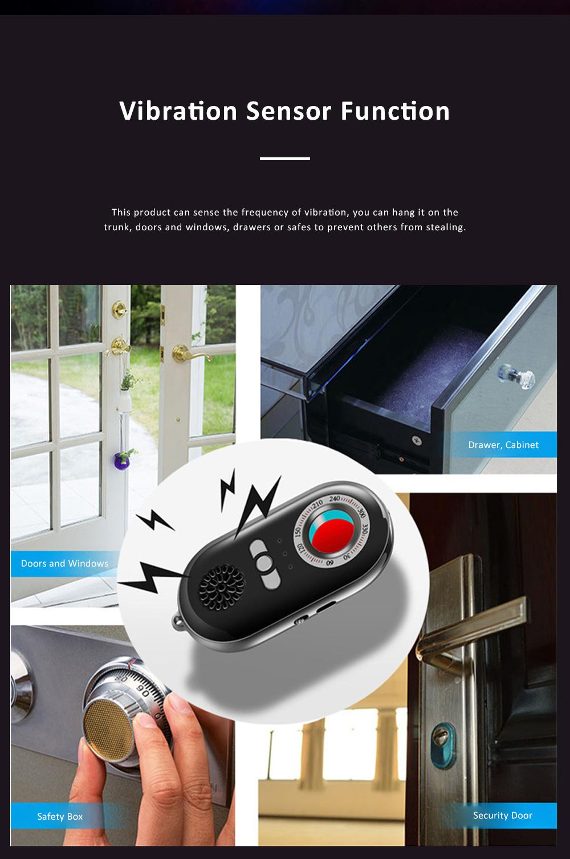 Portable Multifunctional Hotel Infrared Pin Hole Camera Detector Spy Prevention Led Flashlight Alarm Apparatus Alertor Traveling Tool 2