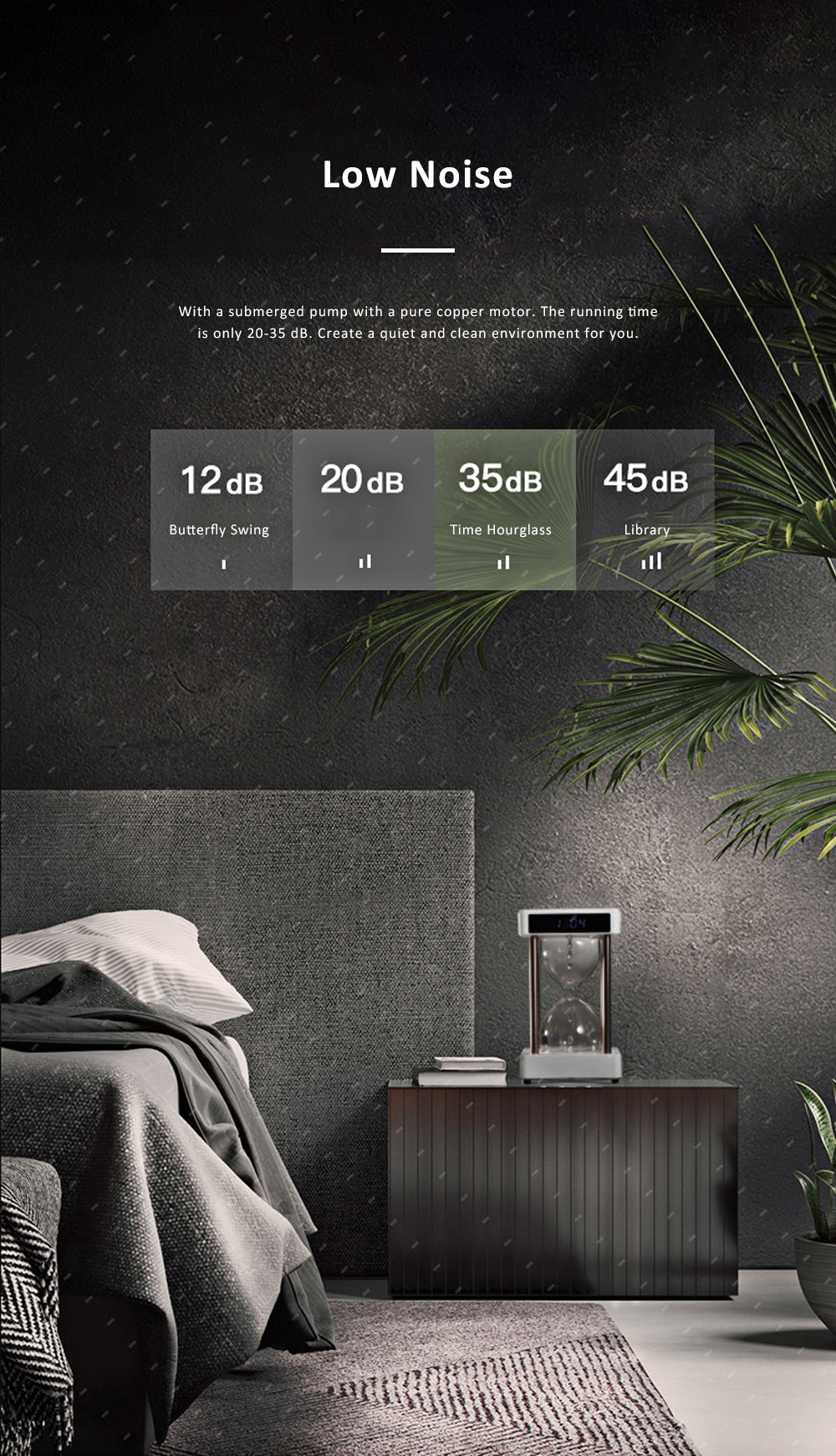 Tinkleo Air Purifier Anti-Gravity Time Hourglass with Water Drops Back Flow Desktop Humidification Deodorization Decoration Gift 5