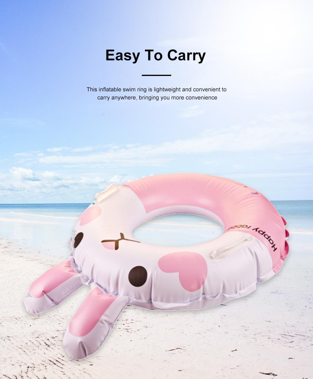 Kid Pool Inflatable Cartoon Rabbit Swimming Ring Anti-Leak Safe Children Swimming Tube 4