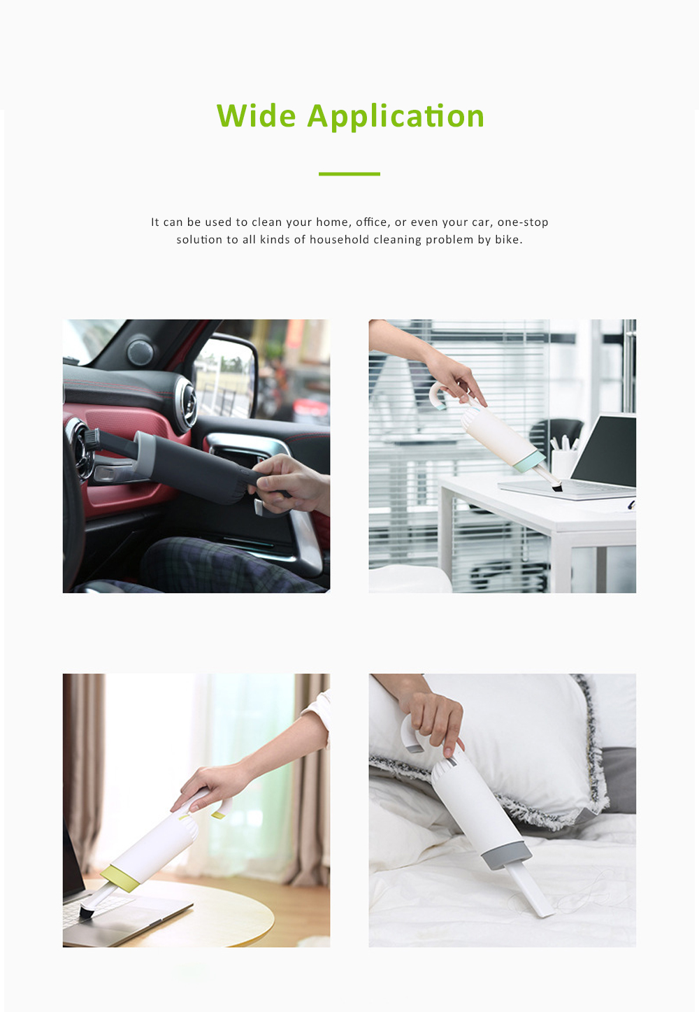 Mini Handheld Car Vacuum Cleaner USB Rechargeable Cordless with HEPA Filter for Home Office 2