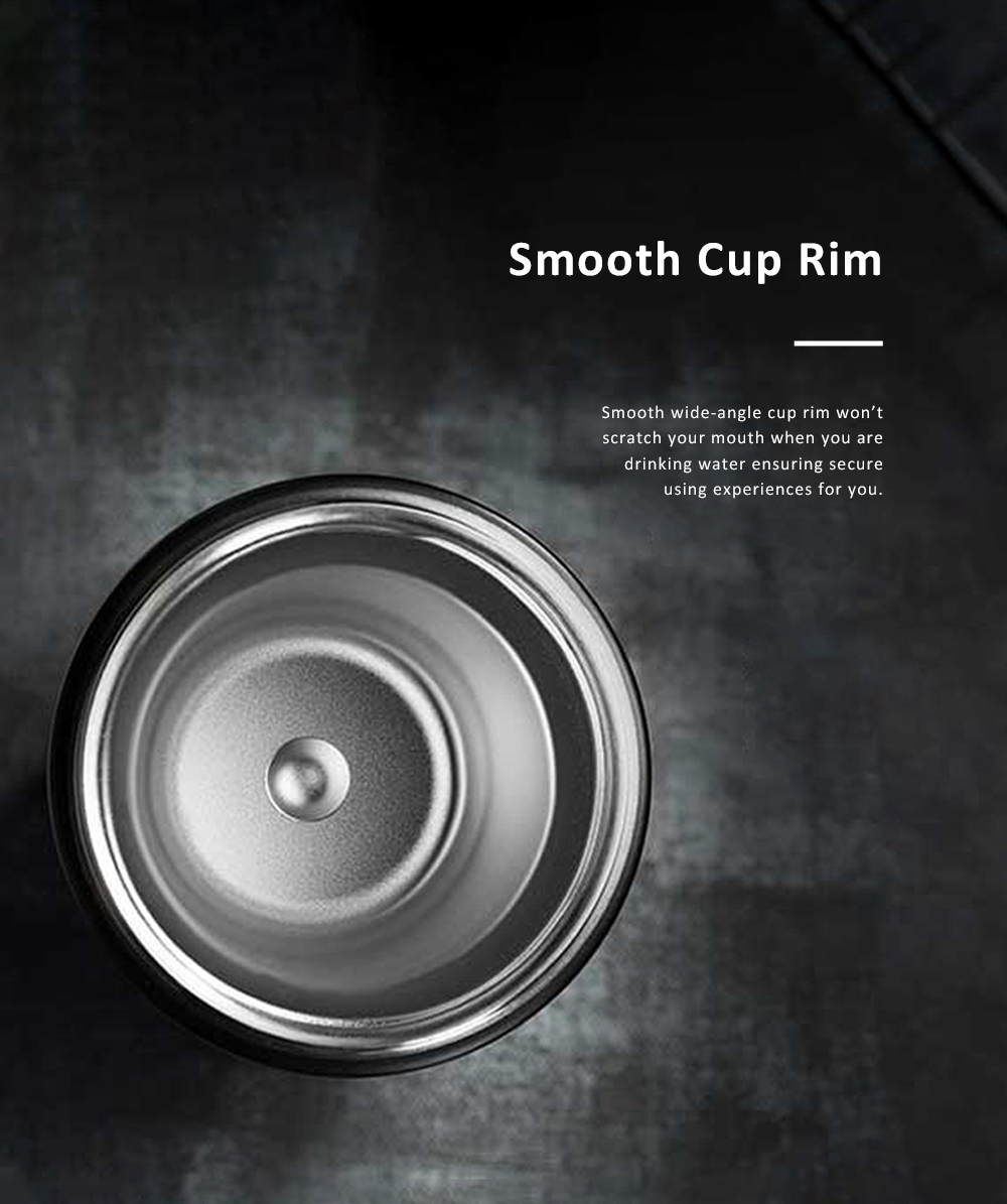 Delicate Portable Anti-scald Stainless Steel 55℃ Quick Cooling Cup with Intelligent Touch LCD Screen Water Clock 8