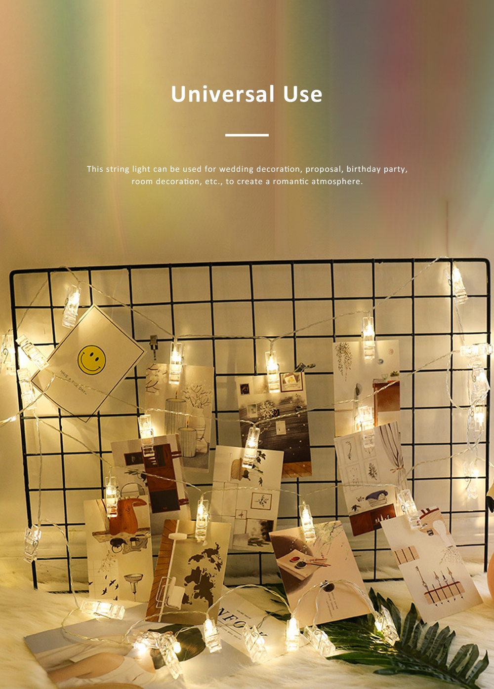 Led Star String Lights with Battery Powered Waterproof Clip String Postcard Photo Decoration Light for Indoor Outdoor Wedding Party Wall Garden 4