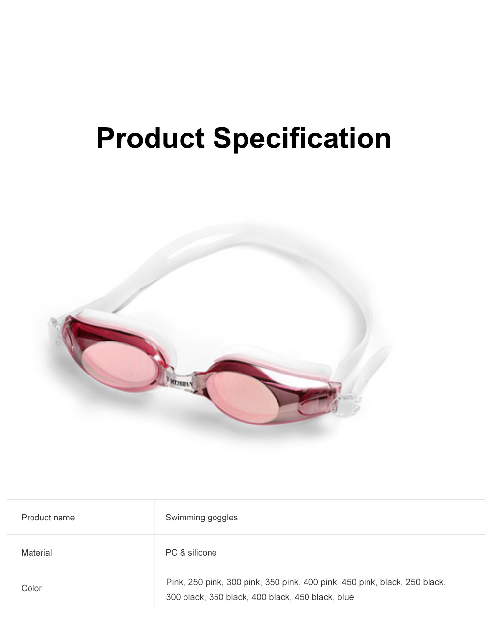 Anti Fog Swimming Goggles UV Protection Mirrored & Clear No Leaking Triathlon Equipment for Adult and Children 6