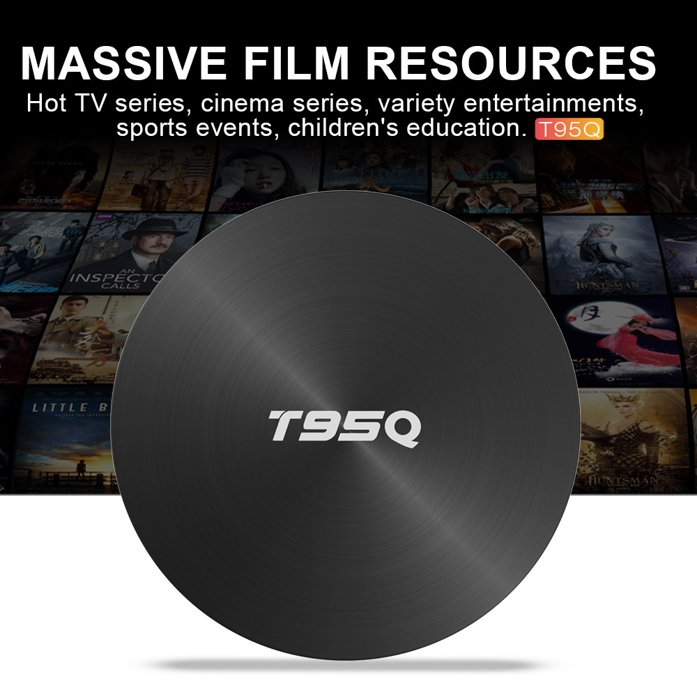 T95Q Android TV Box S905X2 4K Android 8.1 4G/32GB Bluetooth 4.1 5.8G WiFi Smart Box 1