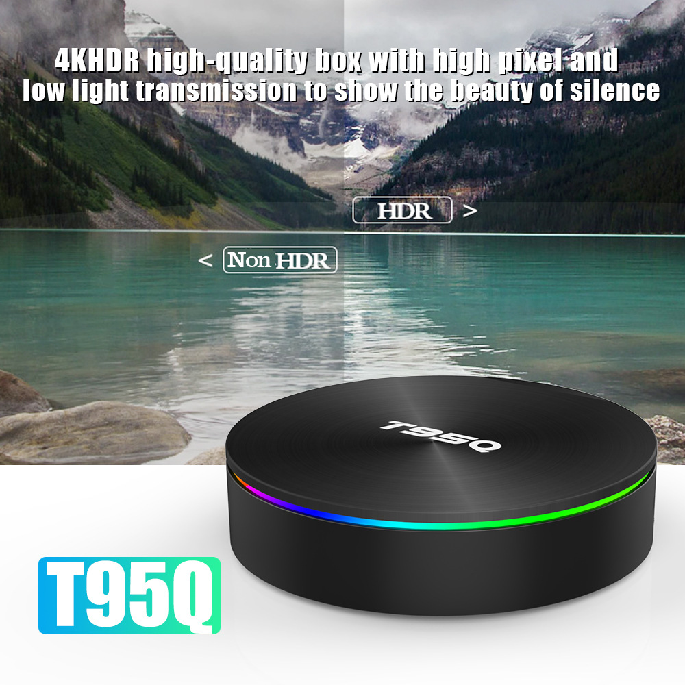 T95Q Android TV Box S905X2 4K Android 8.1 4G/32GB Bluetooth 4.1 5.8G WiFi Smart Box 3