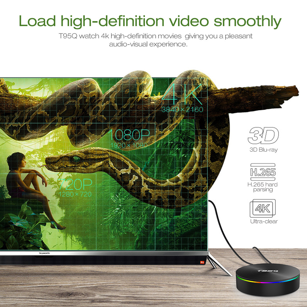 T95Q Android TV Box S905X2 4K Android 8.1 4G/32GB Bluetooth 4.1 5.8G WiFi Smart Box 2