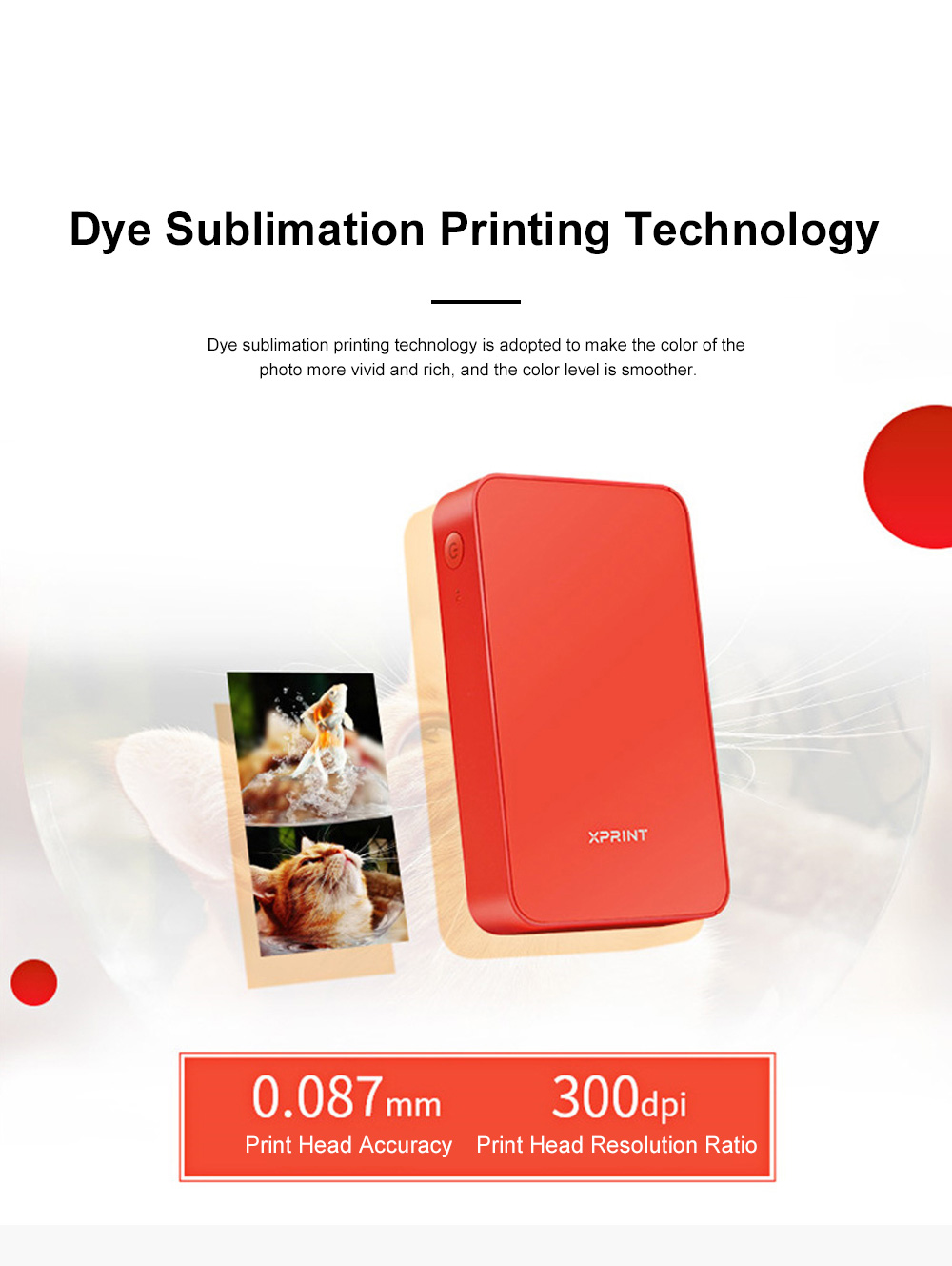 Portable Mobile Phone Bluetooth Photo Printer High-resolution Photograph Dye Sublimation Printing Machine Instant Camera 3