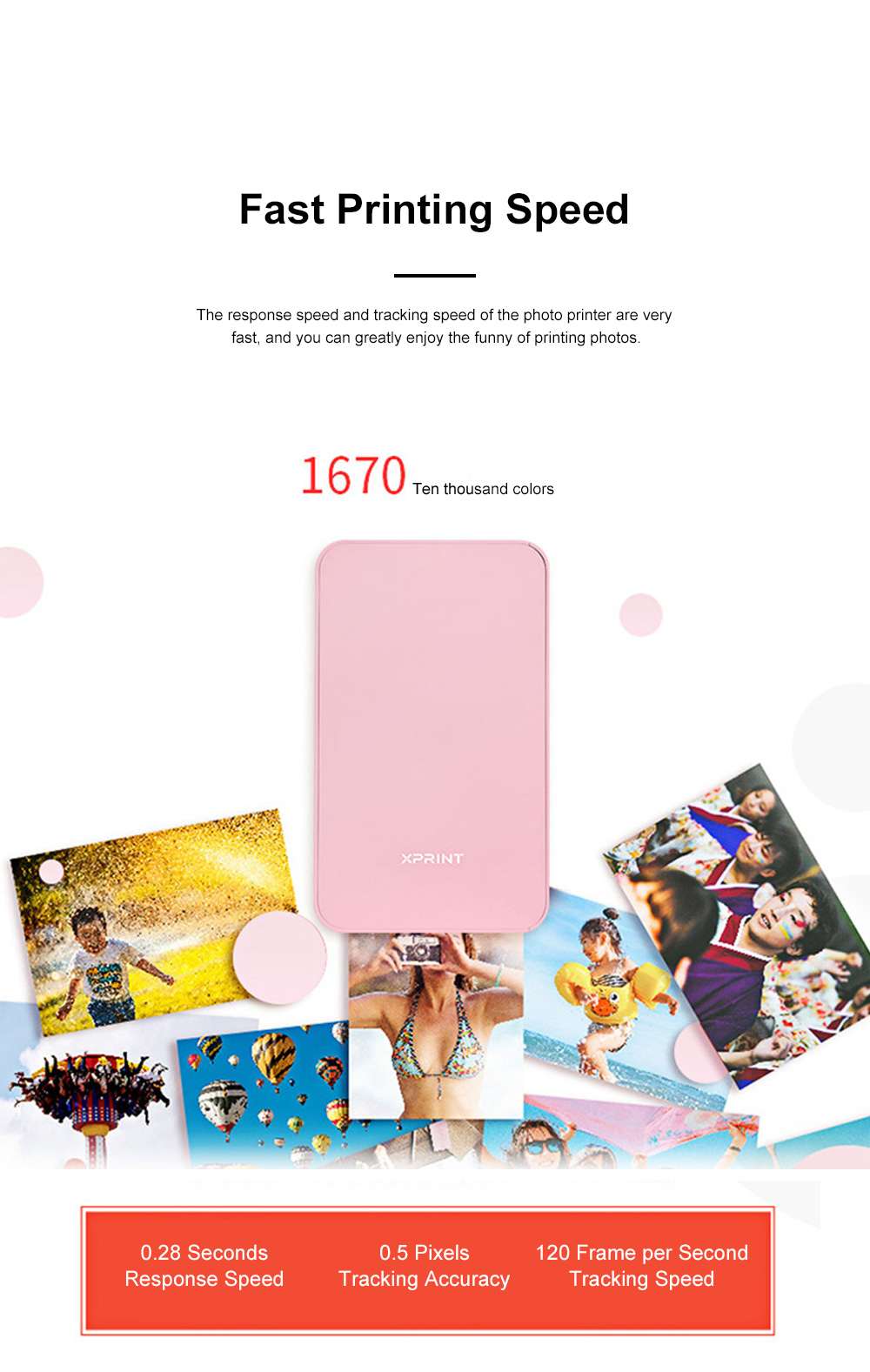 Portable Mobile Phone Bluetooth Photo Printer High-resolution Photograph Dye Sublimation Printing Machine Instant Camera 1