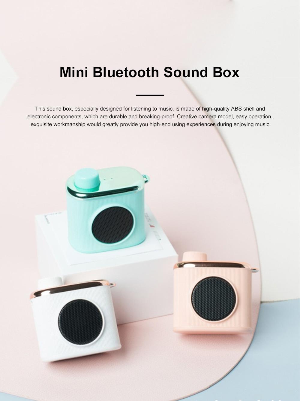 Portable Creative Vintage Camera Model Mini Bluetooth Sound Box Easy Operation USB Memory Loudspeaker Box 0