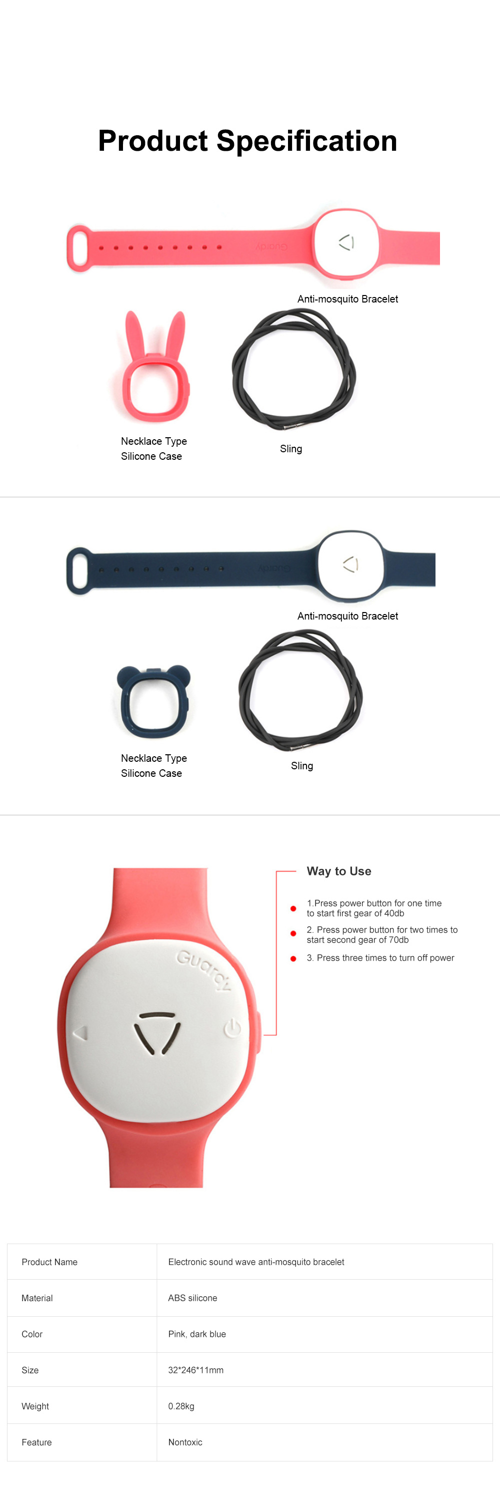Children's Electronic Anti-mosquito Silicone Wristband for Outdoors Camping Fishing Nontoxic Sound Wave Mosquito Repellent Bracelet for Kids 6