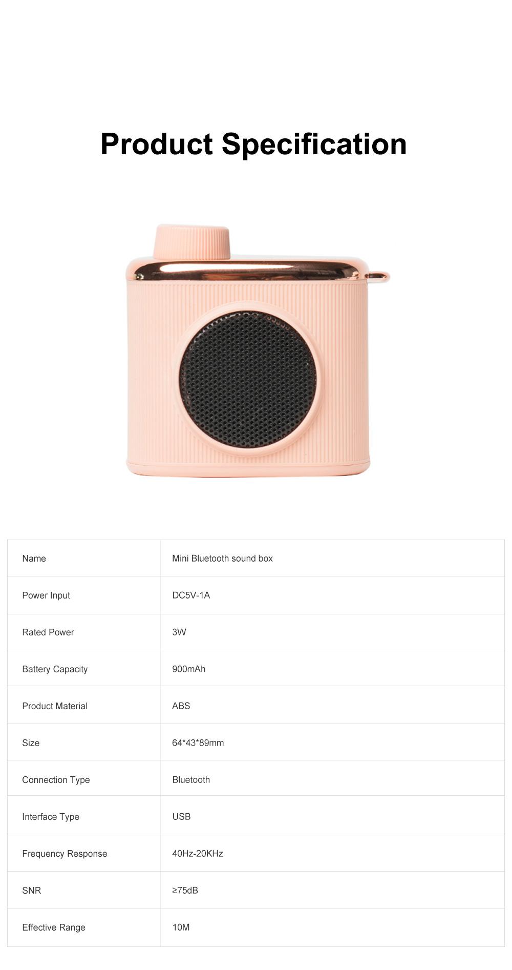 Portable Creative Vintage Camera Model Mini Bluetooth Sound Box Easy Operation USB Memory Loudspeaker Box 7