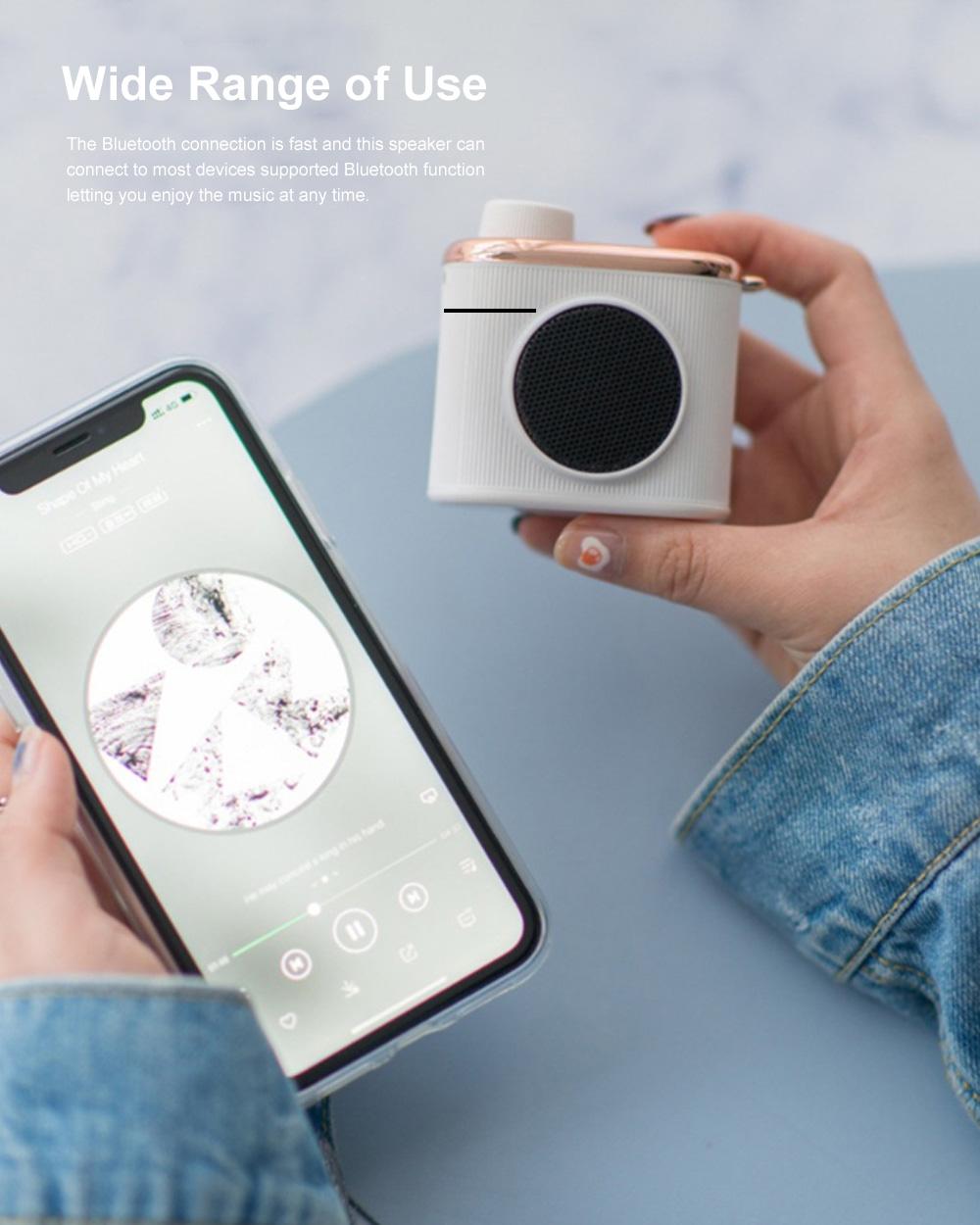 Portable Creative Vintage Camera Model Mini Bluetooth Sound Box Easy Operation USB Memory Loudspeaker Box 6