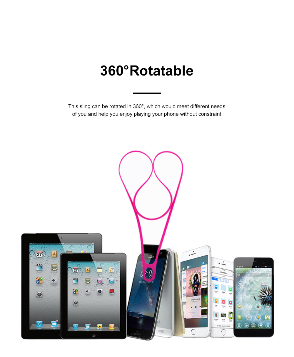 Creative Portable Convenient Elastic Silicone Mobile Phone Sling Rotatable Adjustable Smartphone Hanging Rope 5