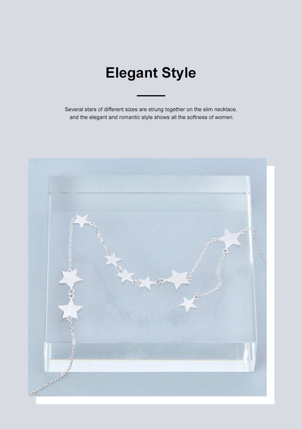 Lucky Star Choker Necklace Original Sterling Ornaments with S925 Sterling Silver Star for Women Girls 4