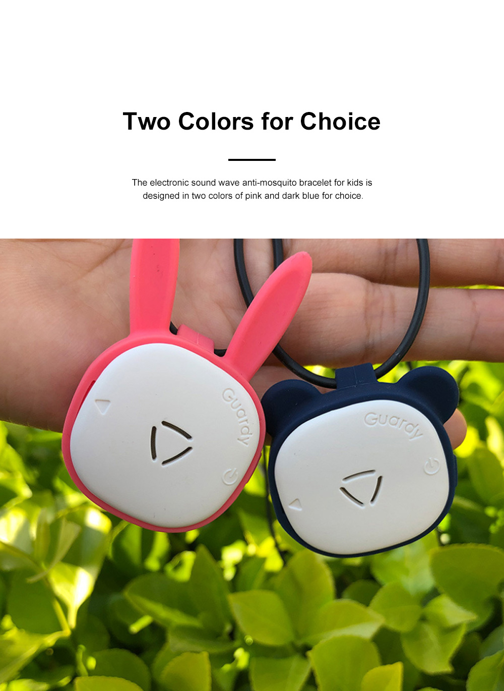Children's Electronic Anti-mosquito Silicone Wristband for Outdoors Camping Fishing Nontoxic Sound Wave Mosquito Repellent Bracelet for Kids 5