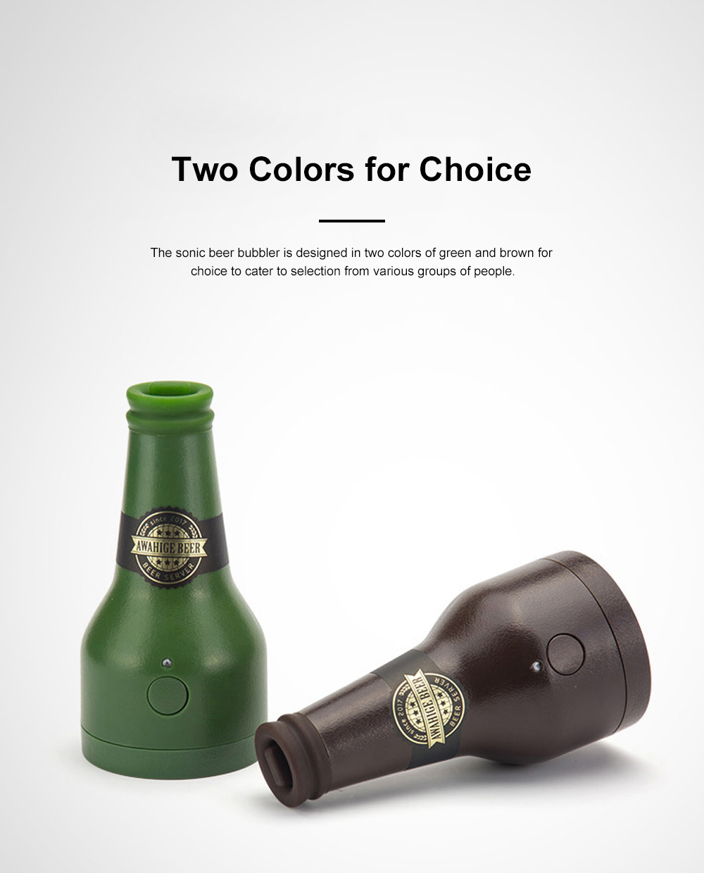 Portable Sonic Can Beer Foamer for Outdoor Party Wine Tasting Food Grade Universal Beer Bubbler Long Battery Duration Mini Size Beer Foamer 6