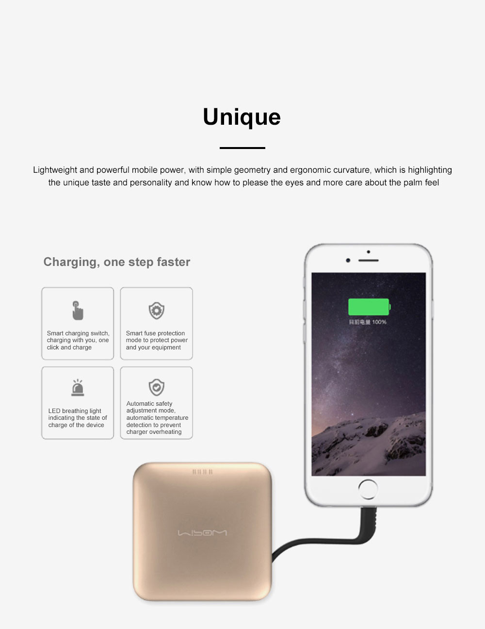 Mipow Portable Mobile Power 9000 Mah Large Capacity Mobile Phone Ultra-thin Charging Treasure Comes With Line specially for iPod iPhone iPad 5