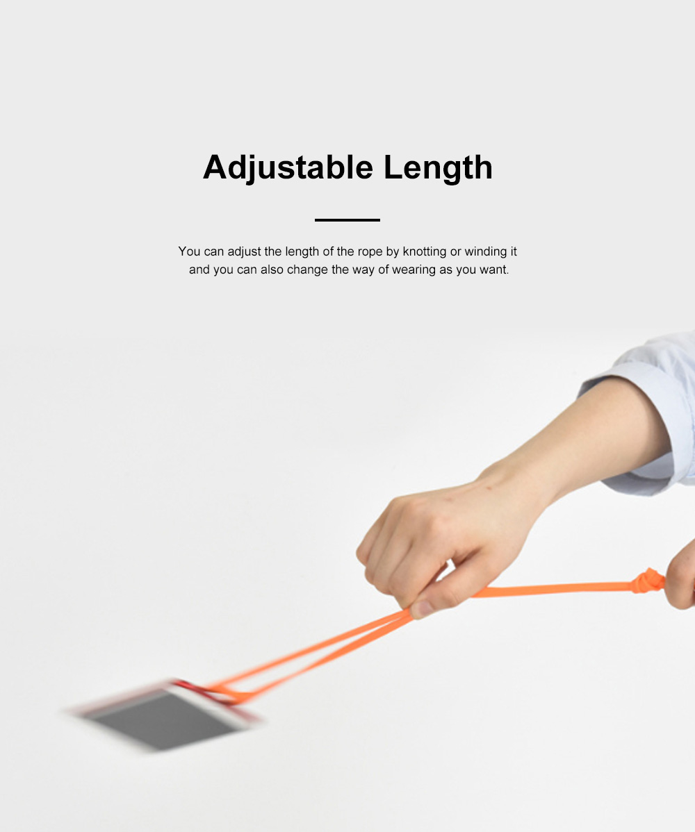 Creative Portable Convenient Elastic Silicone Mobile Phone Sling Rotatable Adjustable Smartphone Hanging Rope 2