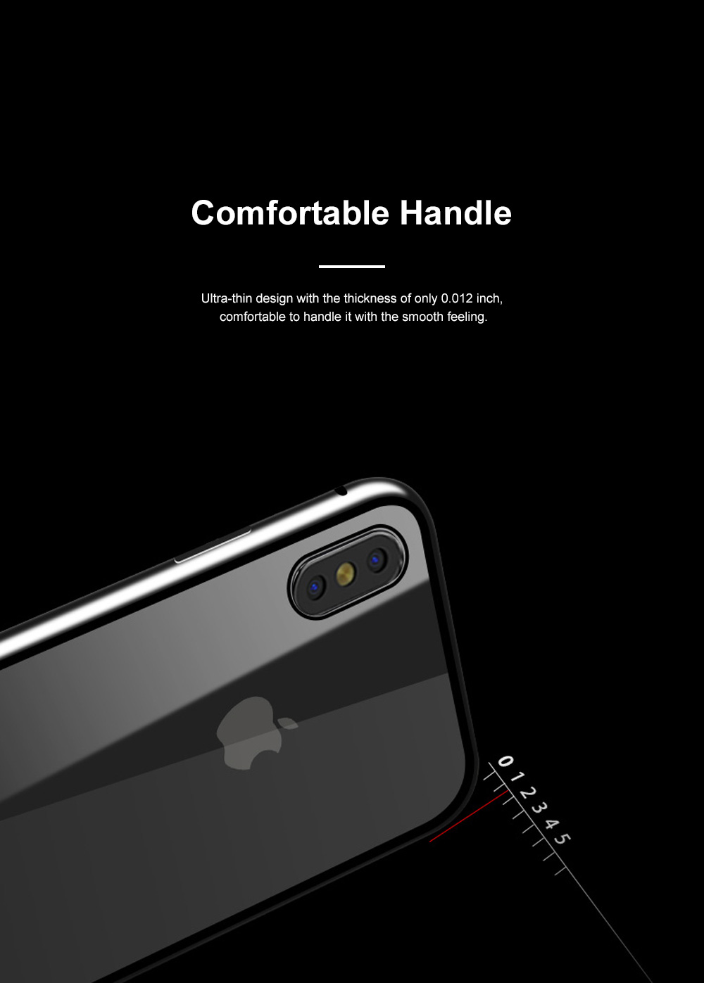 Magnetic Adsorption Phone Case Double-Sided Tempered Glass Protection Shell Compatible for iPhone 6 7 8 11 XS Max & XS 4