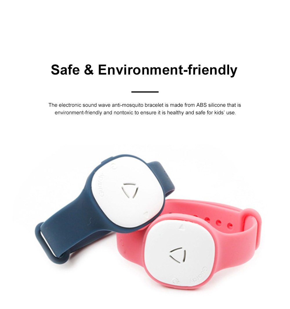 Children's Electronic Anti-mosquito Silicone Wristband for Outdoors Camping Fishing Nontoxic Sound Wave Mosquito Repellent Bracelet for Kids 1