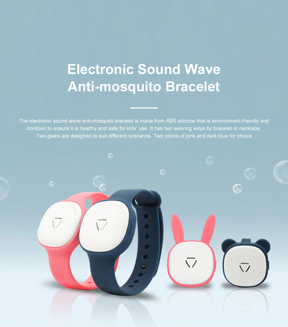 Children's Electronic Anti-mosquito Silicone Wristband for Outdoors Camping Fishing Nontoxic Sound Wave Mosquito Repellent Bracelet for Kids 0