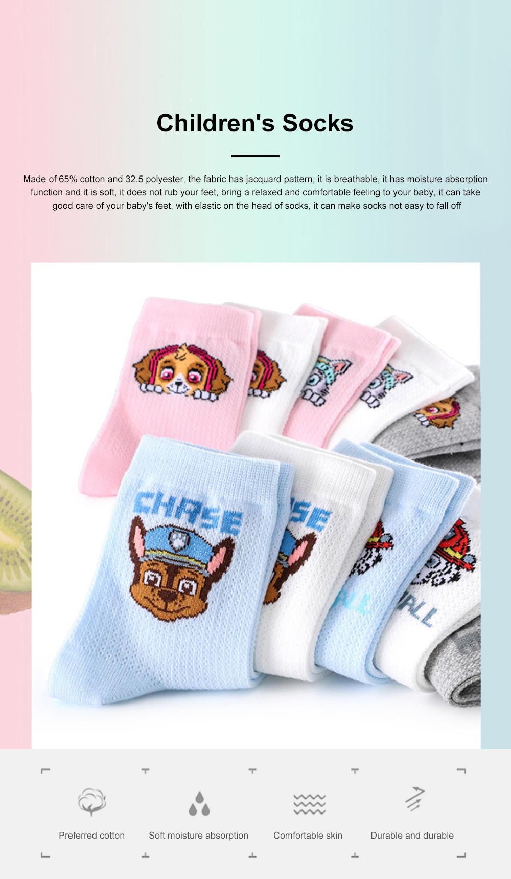PAW PATROL Children's Socks Spring And Autumn Mesh Cotton Socks Girls Boys And Girls Children Baby Tube Socks 0