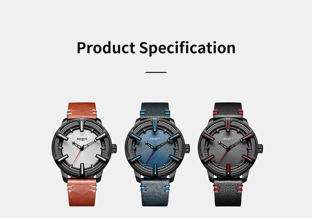 Western Style Genuine Leather Men's Wristwatch with Japanese Quartz Movement Waterproof Sports Wrist Watch Universal Watch for Men 10