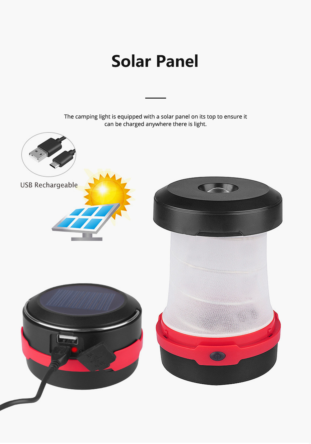 Rechargeable Pop-up LED Camping Light for Outdoor Activity Foldable Portable Telescopic LED Tent Lamp Handheld USB Chargeable Camping Lantern Ultra Bright Camping Lamp 4
