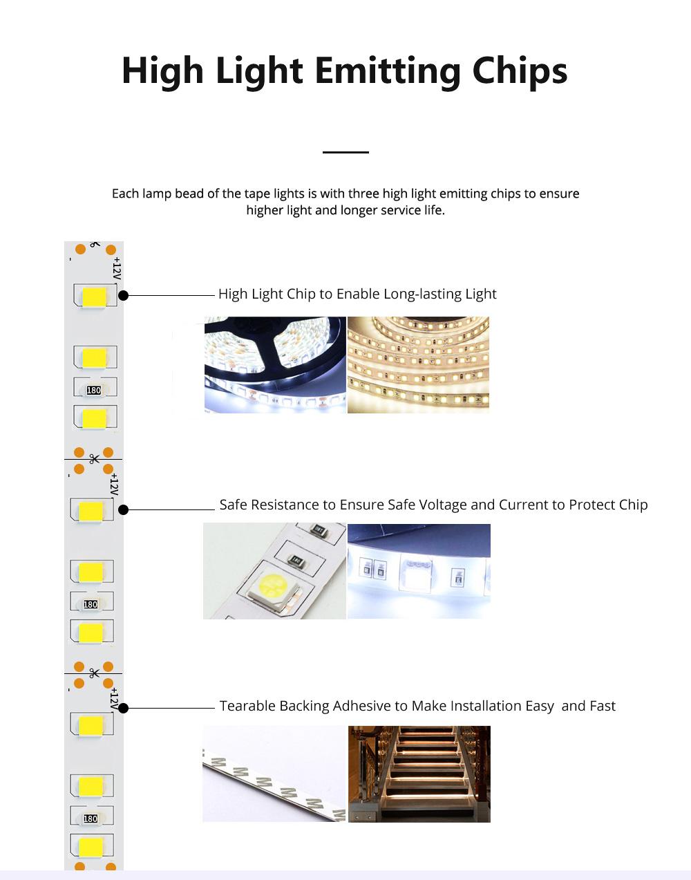 Hight Light LED Tape Lights Waterproof and Anti-dust Strip Lights for Wedding Decoration Handset Cabinet Bare Board LED Light Bar 1