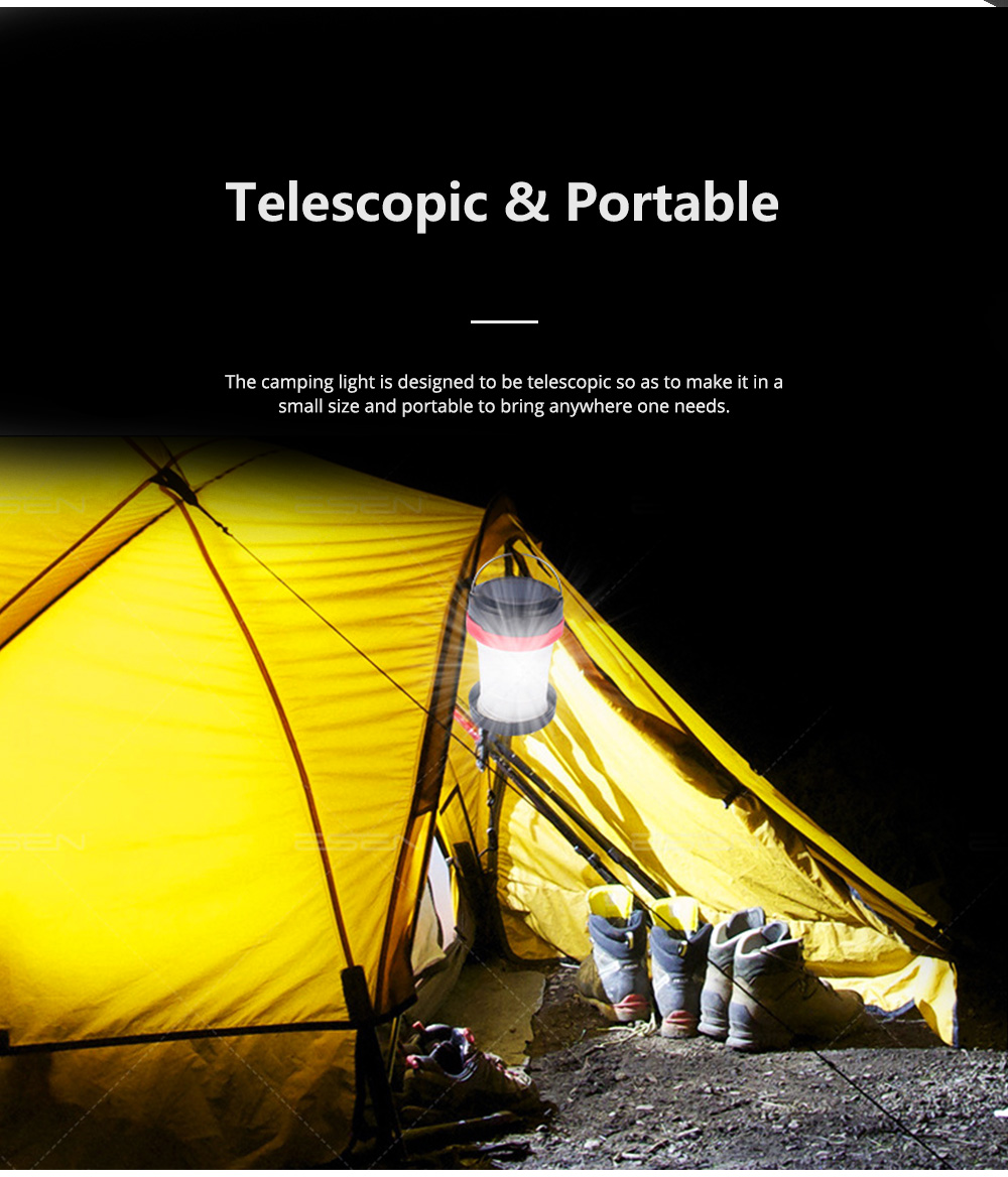 Rechargeable Pop-up LED Camping Light for Outdoor Activity Foldable Portable Telescopic LED Tent Lamp Handheld USB Chargeable Camping Lantern Ultra Bright Camping Lamp 8