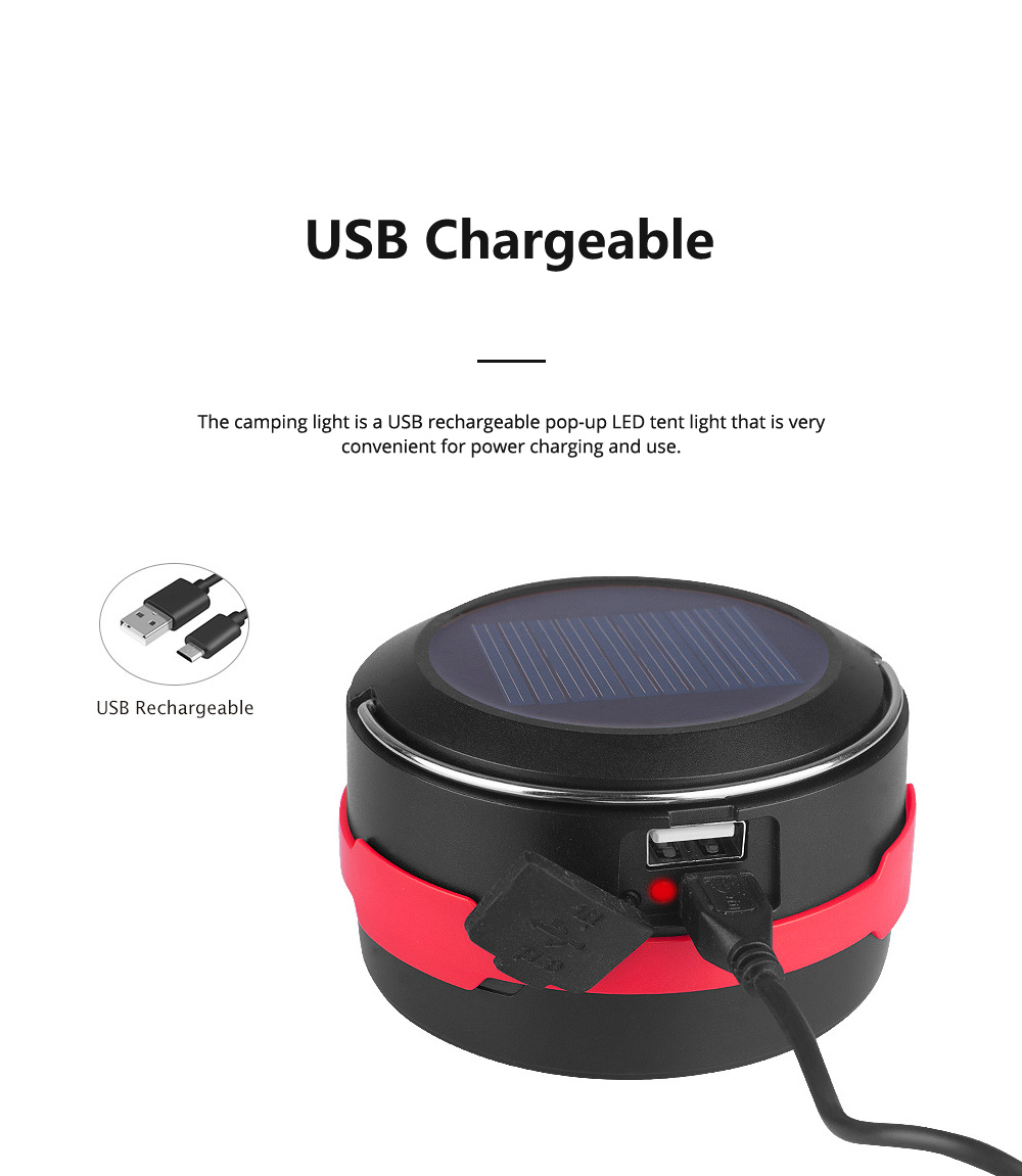 Rechargeable Pop-up LED Camping Light for Outdoor Activity Foldable Portable Telescopic LED Tent Lamp Handheld USB Chargeable Camping Lantern Ultra Bright Camping Lamp 7