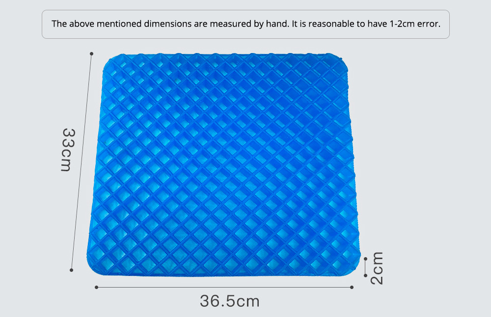 Breathable Honeycomb Seat Cushion for Sedentary Driving Japanese Elastic Jelly Ice Mat Bottom Stress-released Cellular Seat Mat Latticed Ice Cushion 11