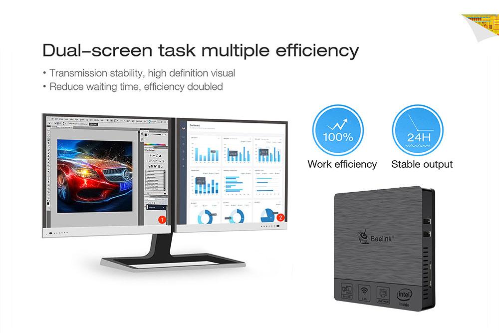 Beelink BT3 PRO II 4G/64G Mini Computer Mini PC Win10 BT 4.0 1000Mbps LAN 2.4/5.8G WIFI 14