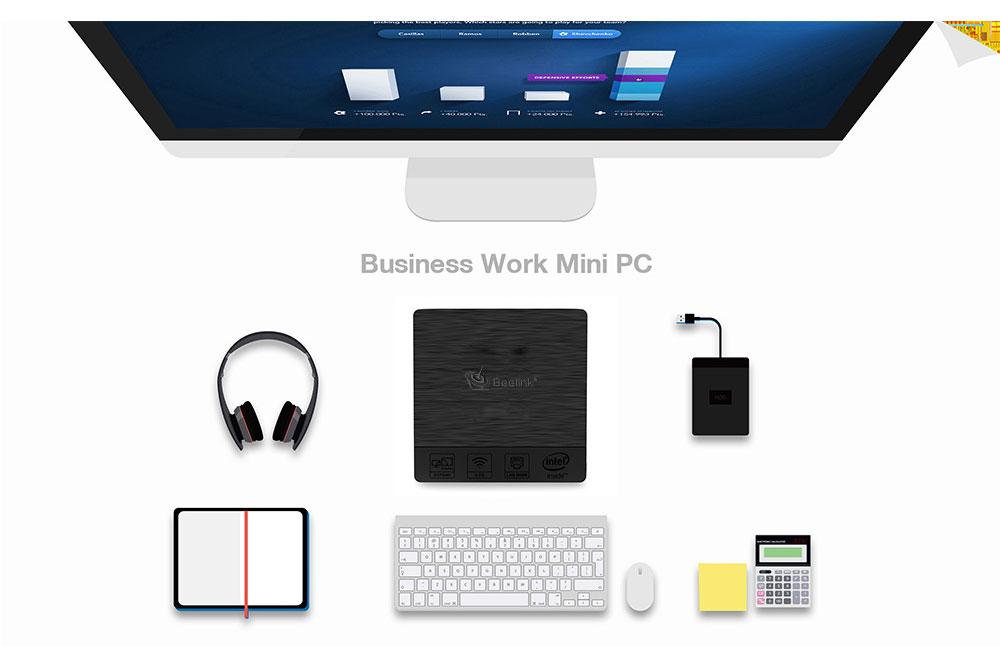 Beelink BT3 PRO II 4G/64G Mini Computer Mini PC Win10 BT 4.0 1000Mbps LAN 2.4/5.8G WIFI 17