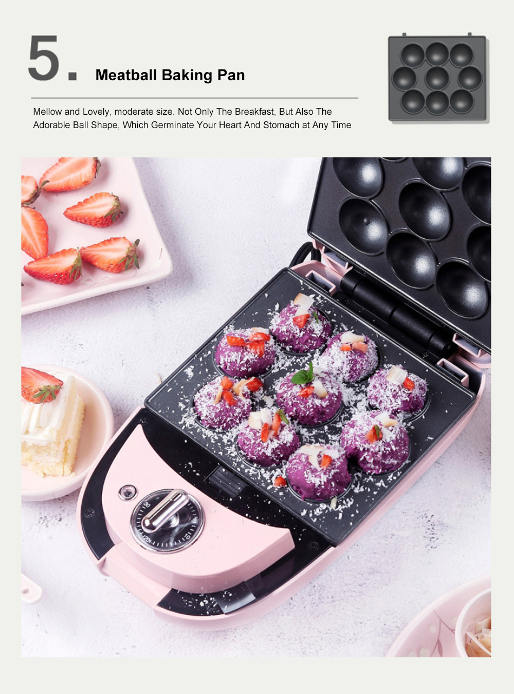 Sandwich Baking Pan Multifunctional Timing Breakfast Machine for Quick Baking Waffle Automatic Home Toaster 6