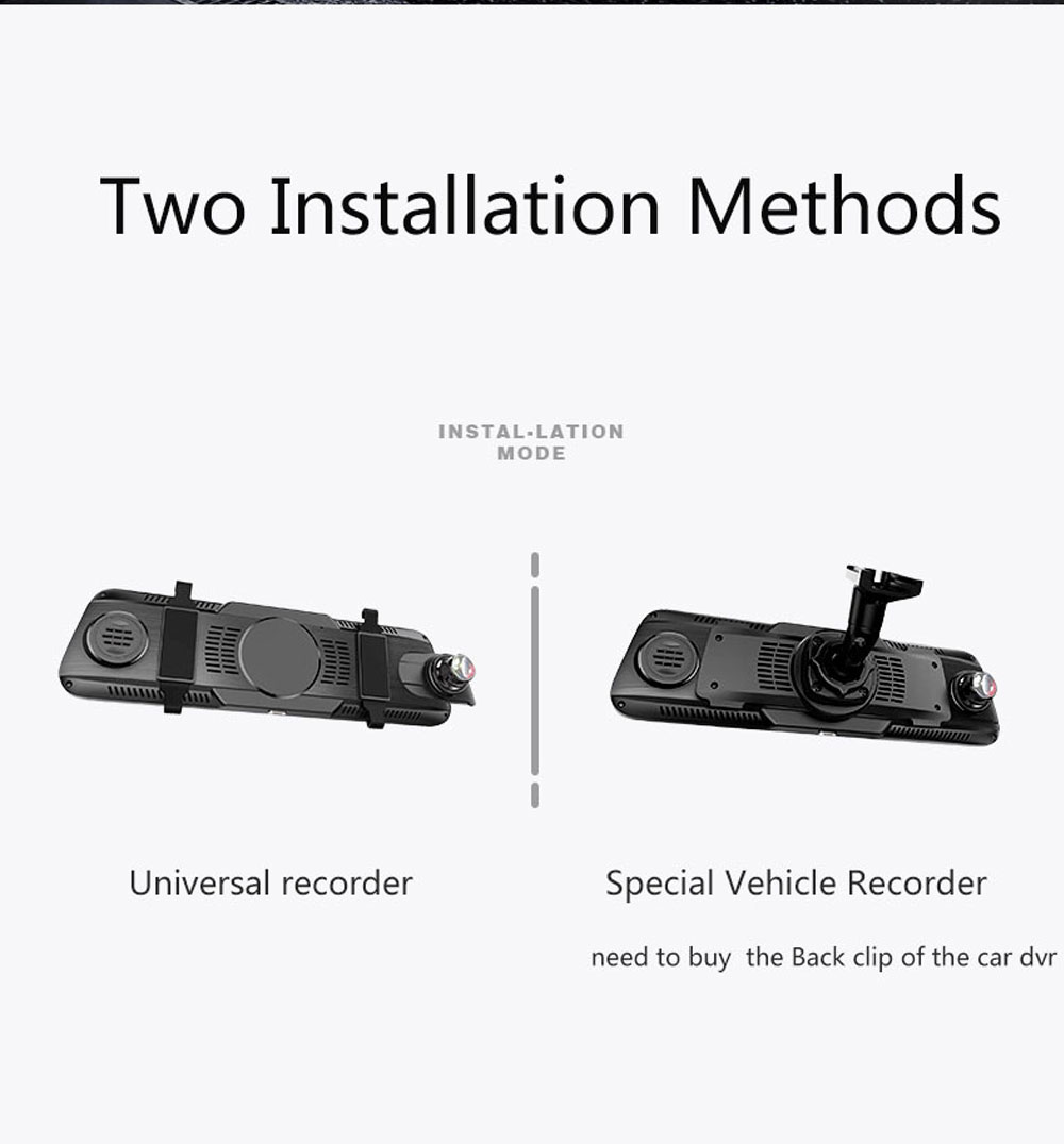 Back-looking Panoramic 360-degree Mirror Dash Cam Driving Recorder with Full HD 1080p Front and Rear 1