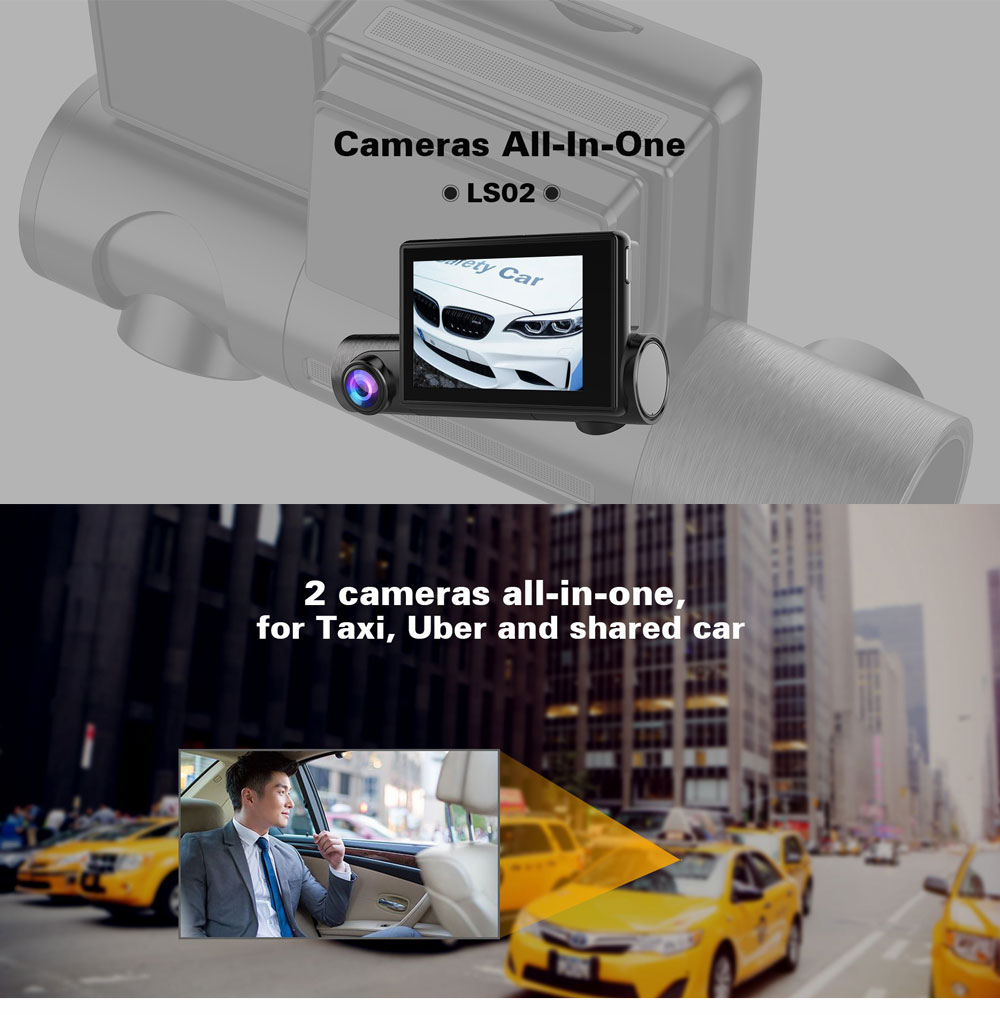 1080P GPS Dash Camera Full HD Car Driving Recorder with 140°Viewing Angle and 3 Inch Touch Screen for Taxi and Car 0