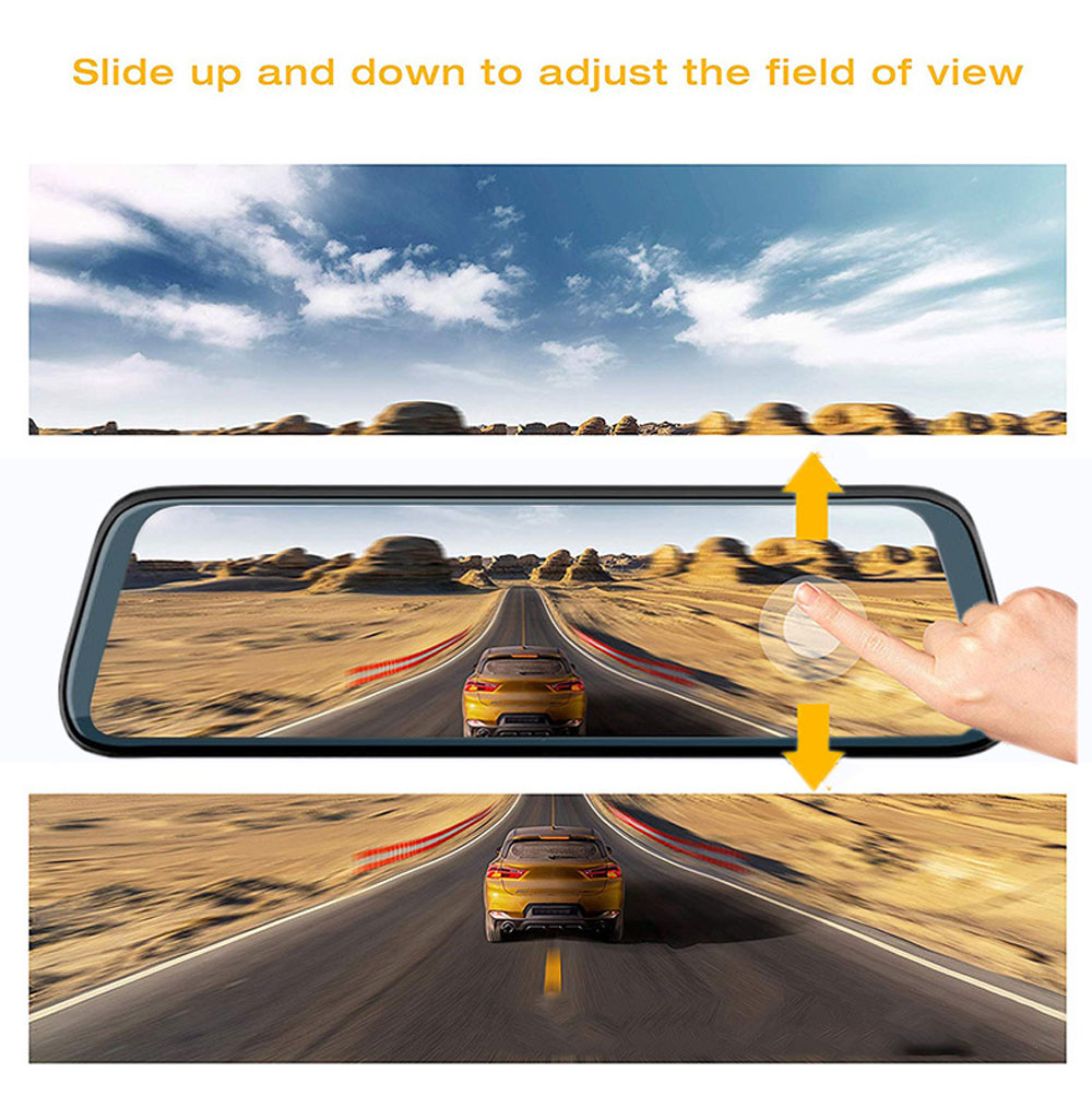 Back-looking Panoramic 360-degree Mirror Dash Cam Driving Recorder with Full HD 1080p Front and Rear 2