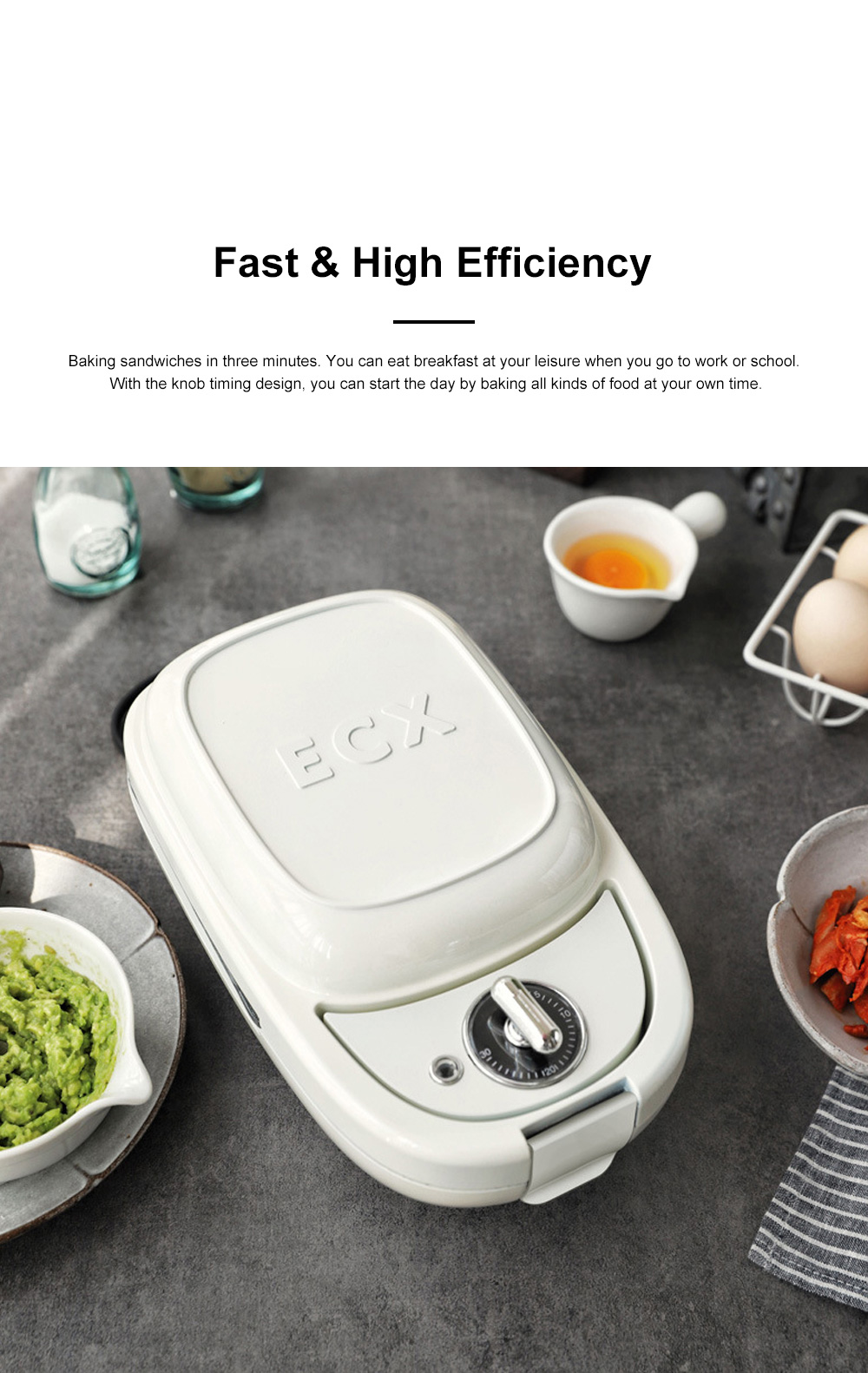Sandwich Baking Pan Multifunctional Timing Breakfast Machine for Quick Baking Waffle Automatic Home Toaster 8