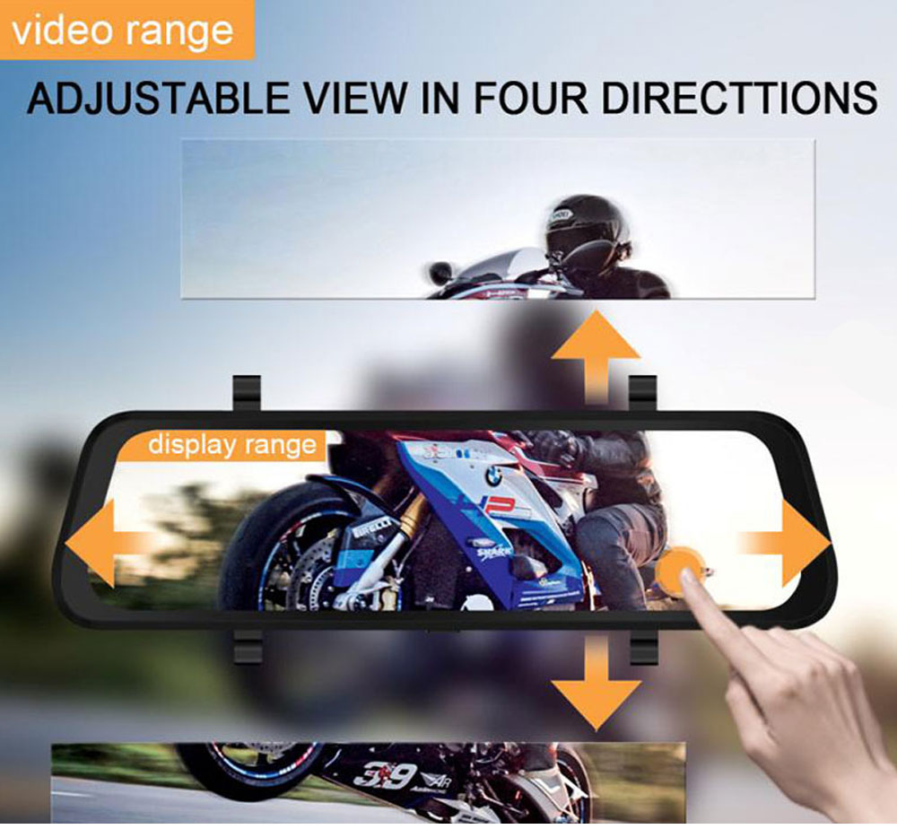 Back-looking Panoramic 360-degree Mirror Dash Cam Driving Recorder with Full HD 1080p Front and Rear 4