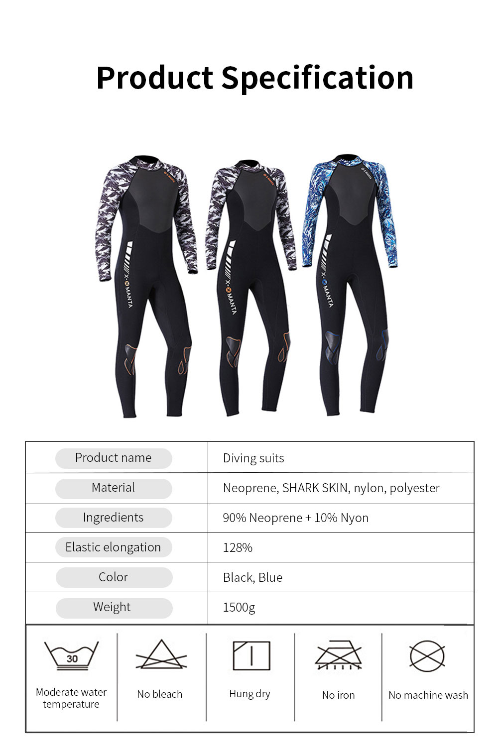 2019 New Diving Suits 3mm Neoprene One Piece Sport Skin Spearfishing Full Suit for Men and Women Snorkeling Scuba Diving Surfing 6