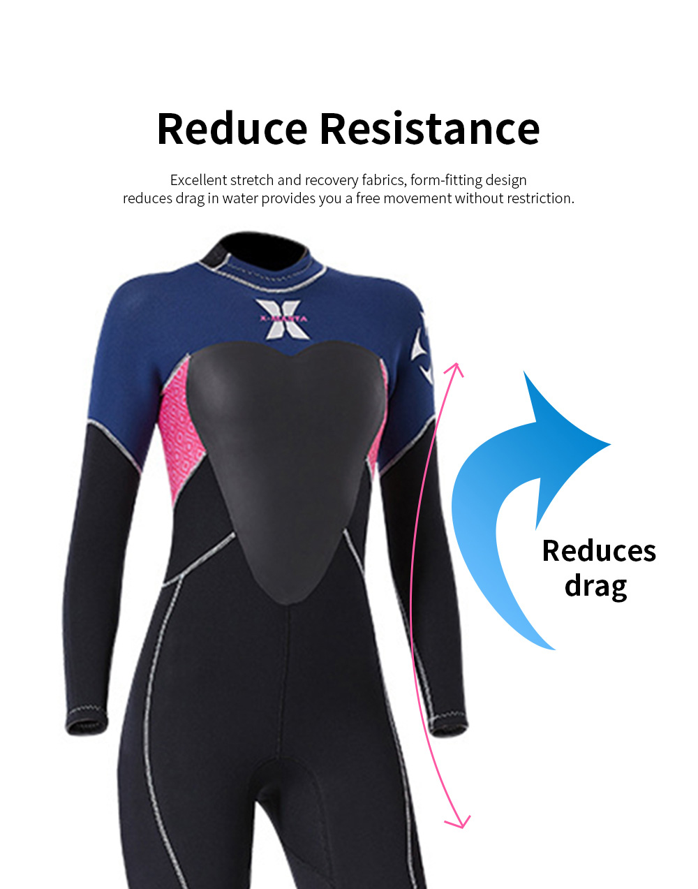 Women Full Body Wetsuits Premium 3mm Neoprene UV Protection Back Zip Diving Suits for Snorkeling Surfing Swimming Suit Jumpsuit 4