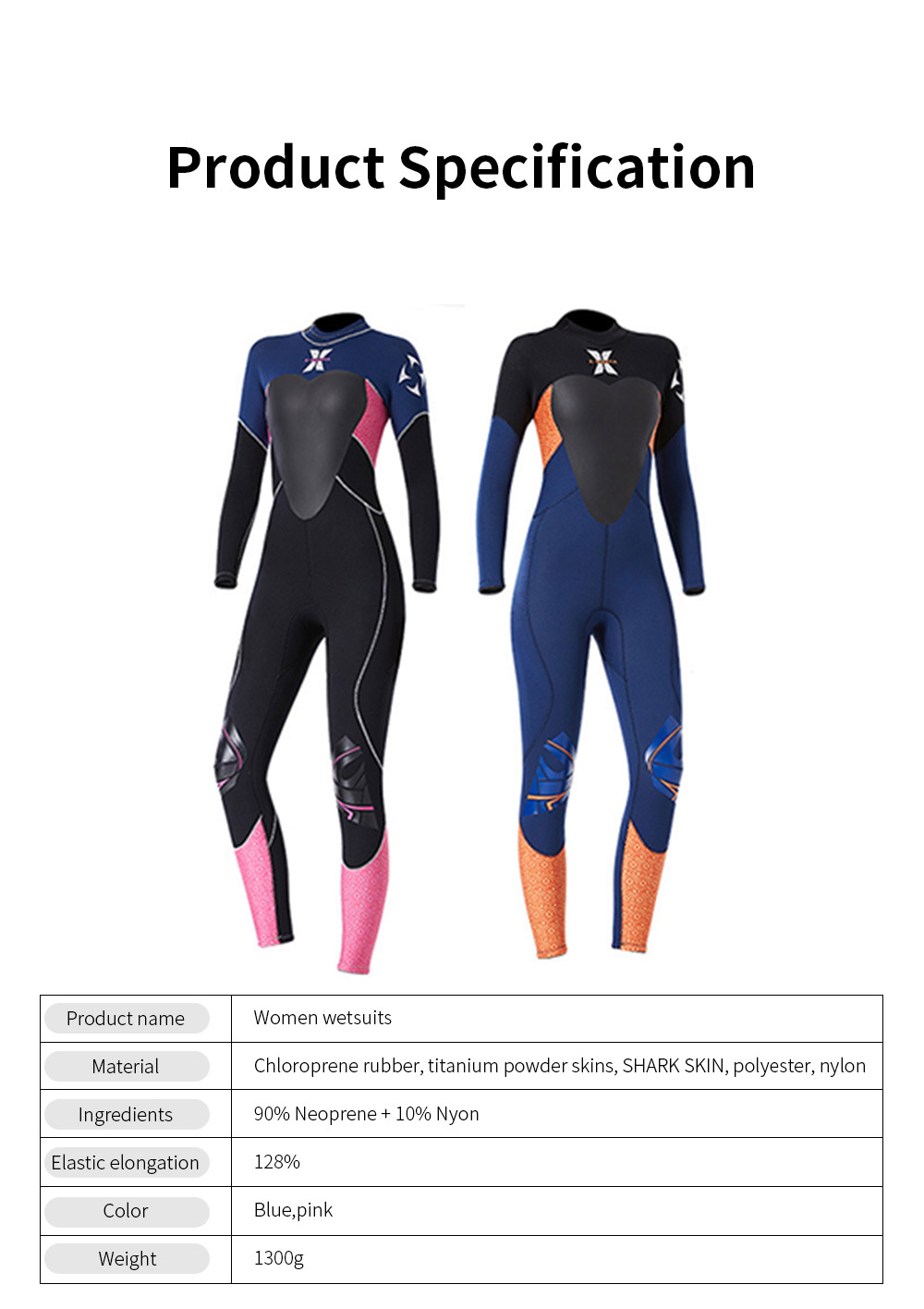 Women Full Body Wetsuits Premium 3mm Neoprene UV Protection Back Zip Diving Suits for Snorkeling Surfing Swimming Suit Jumpsuit 6