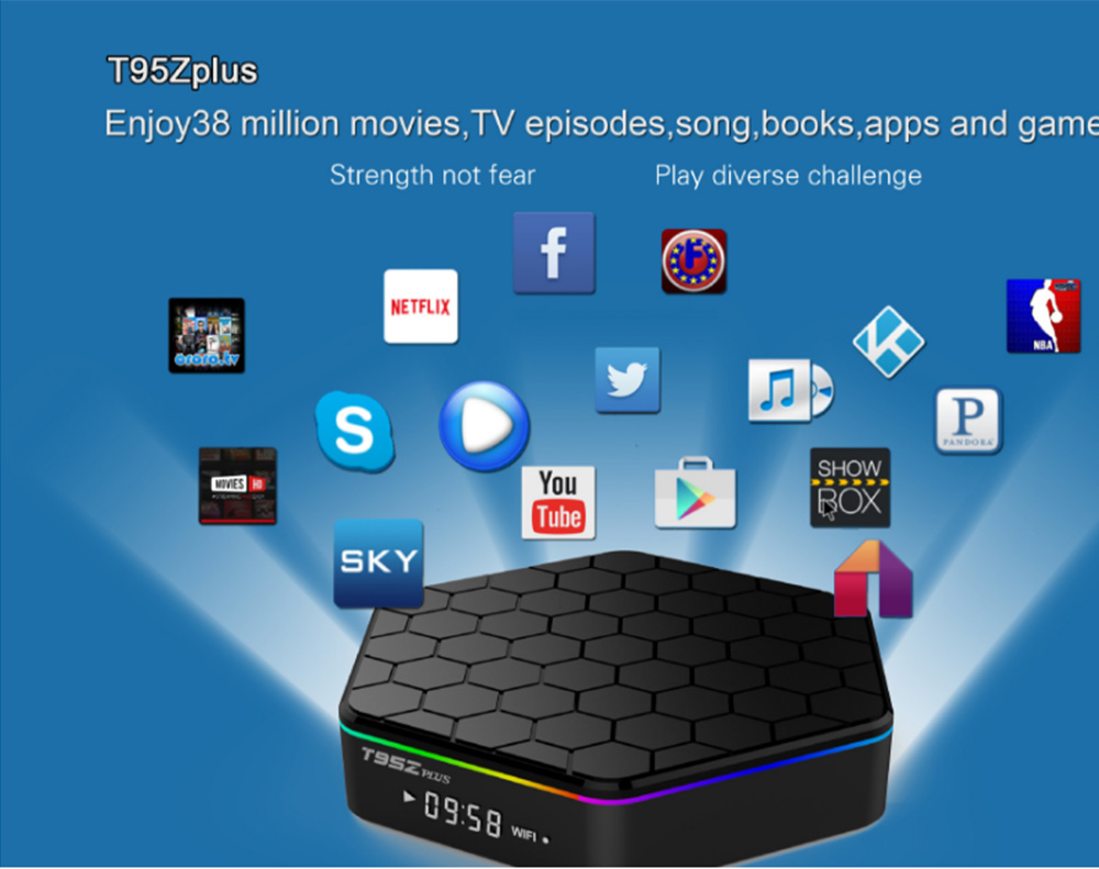 T95Z Plus Android 7.1 Tv Box Amlogic S912 3GB 32GB Ultimate Set-top Box with 2.4G+5G WiFi 1000MLAN HD 4k Player 9