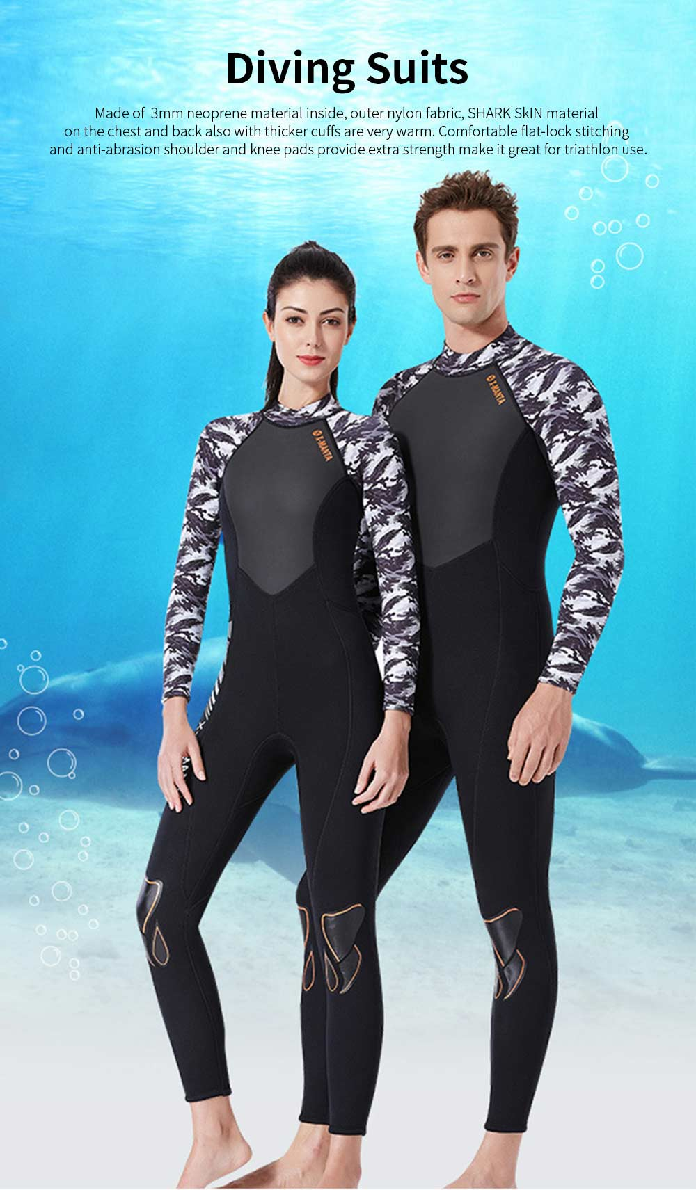2019 New Diving Suits 3mm Neoprene One Piece Sport Skin Spearfishing Full Suit for Men and Women Snorkeling Scuba Diving Surfing 0
