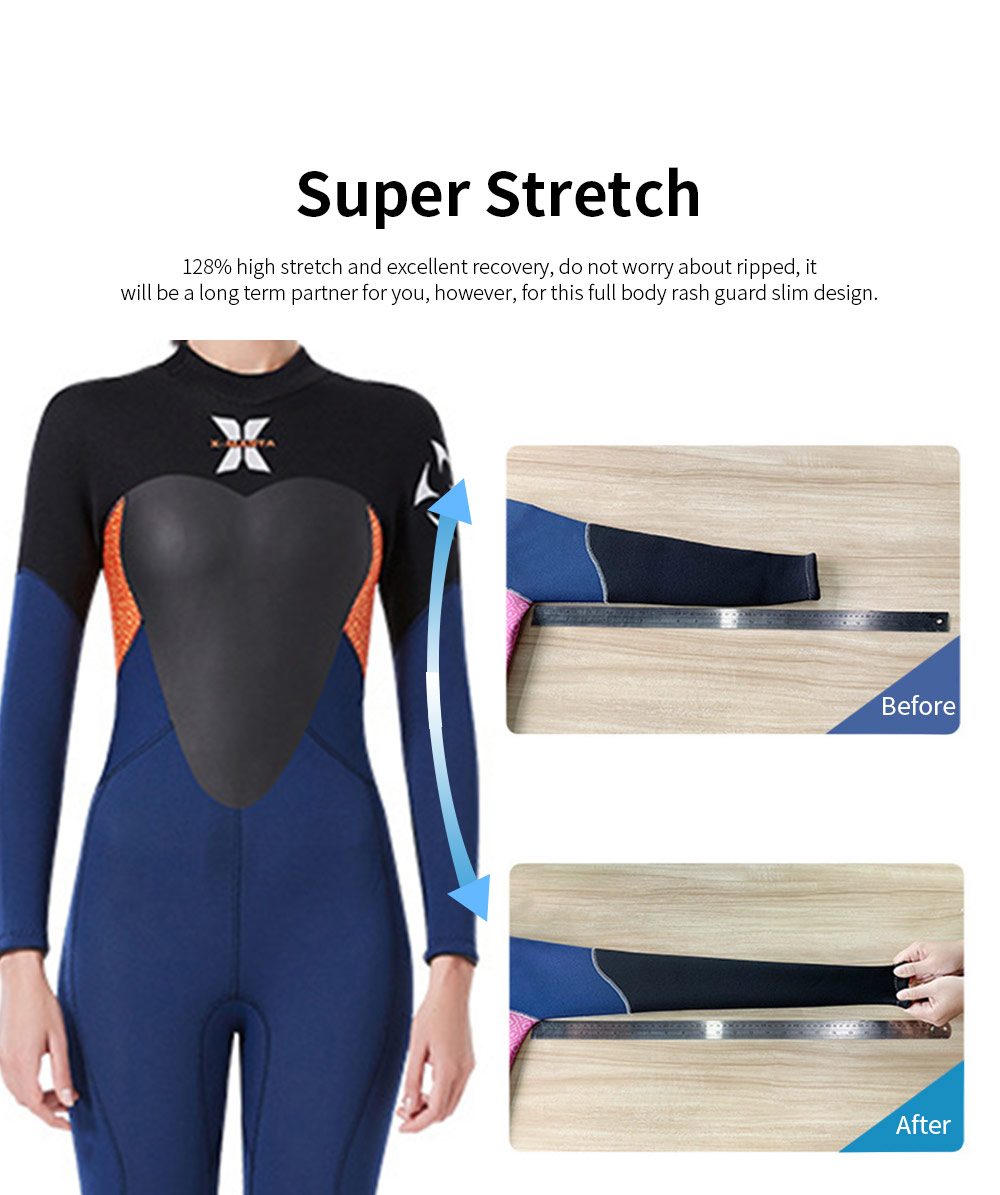 Women Full Body Wetsuits Premium 3mm Neoprene UV Protection Back Zip Diving Suits for Snorkeling Surfing Swimming Suit Jumpsuit 5