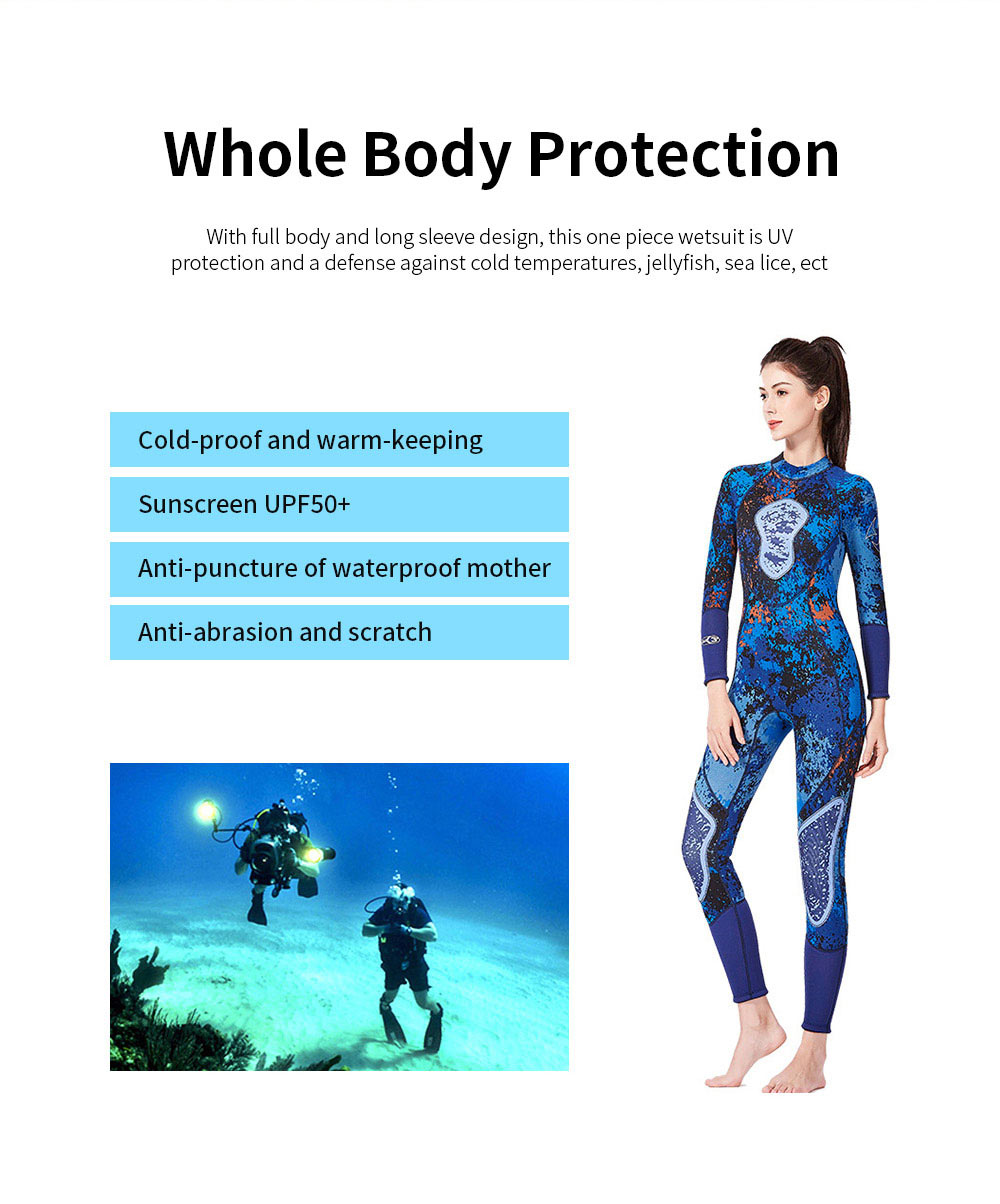 Couples Warm Diving Suits 3mm Neoprene Wetsuit with Stretch Panels for Snorkeling Scuba Diving Surfing for Women Men 1